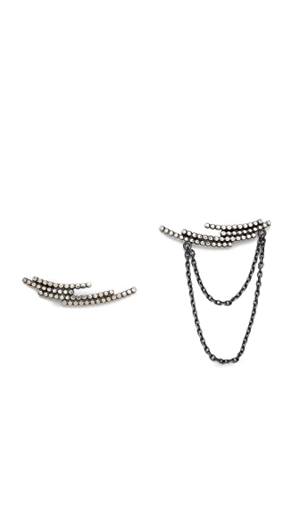 Maria Black Crescent Earring Set
