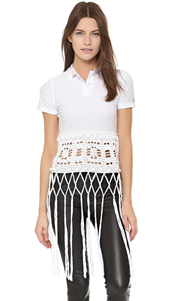 Michaela Buerger Donna Sophia Crochet Polo Top