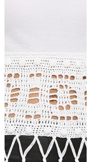Michaela Buerger Donna Sophia Crochet Polo Top