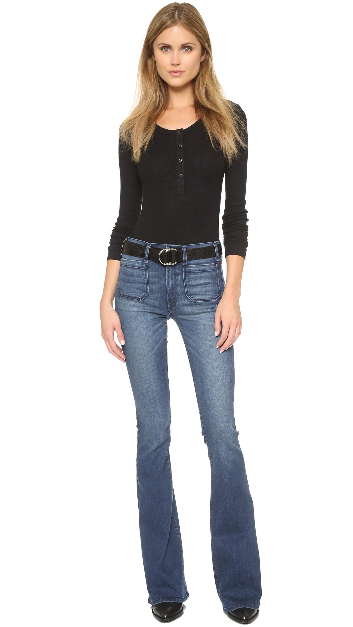 3232973dfb4 McGuire Denim The Principle Mid Rise Flare Jeans
