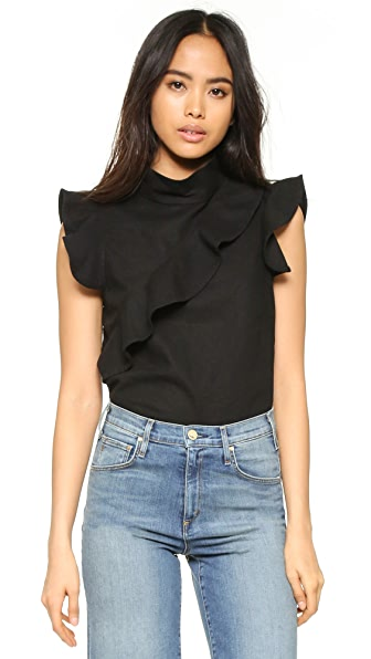 McGuire Denim Sorbonne Ruffle Top