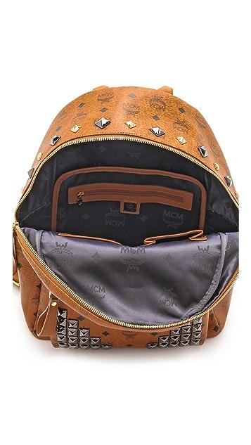 MCM Stark M Stud Med Backpack
