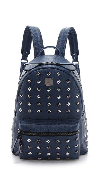 MCM Stark Allover Stud Med Backpack