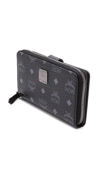 MCM Large Heritage Zip Wallet