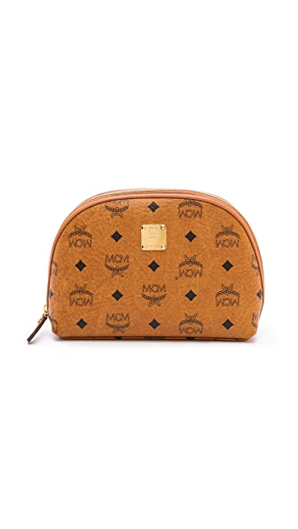 MCM Heritage Circle Large Cosmetic Case