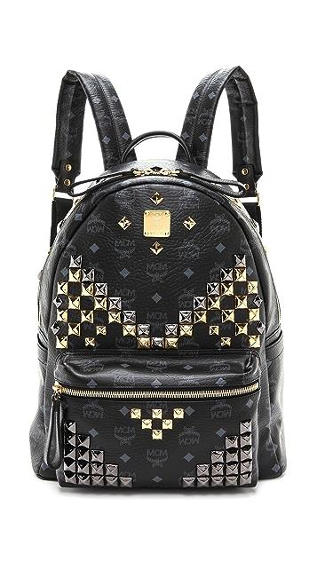 MCM Stark Studded Medium Backpack