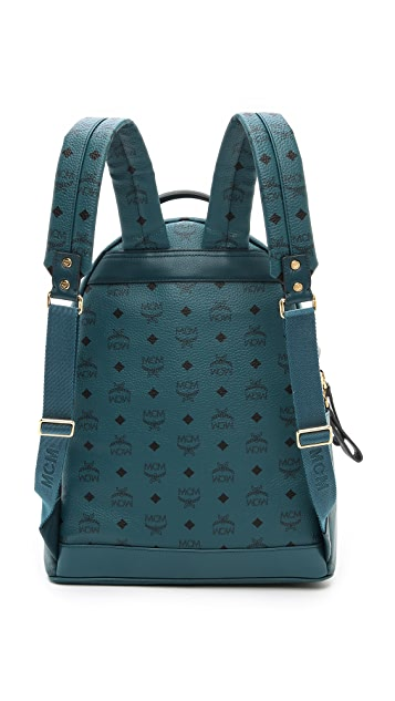 MCM Stark Studded Medium Backpack