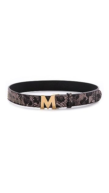 MCM M Buckle Belt