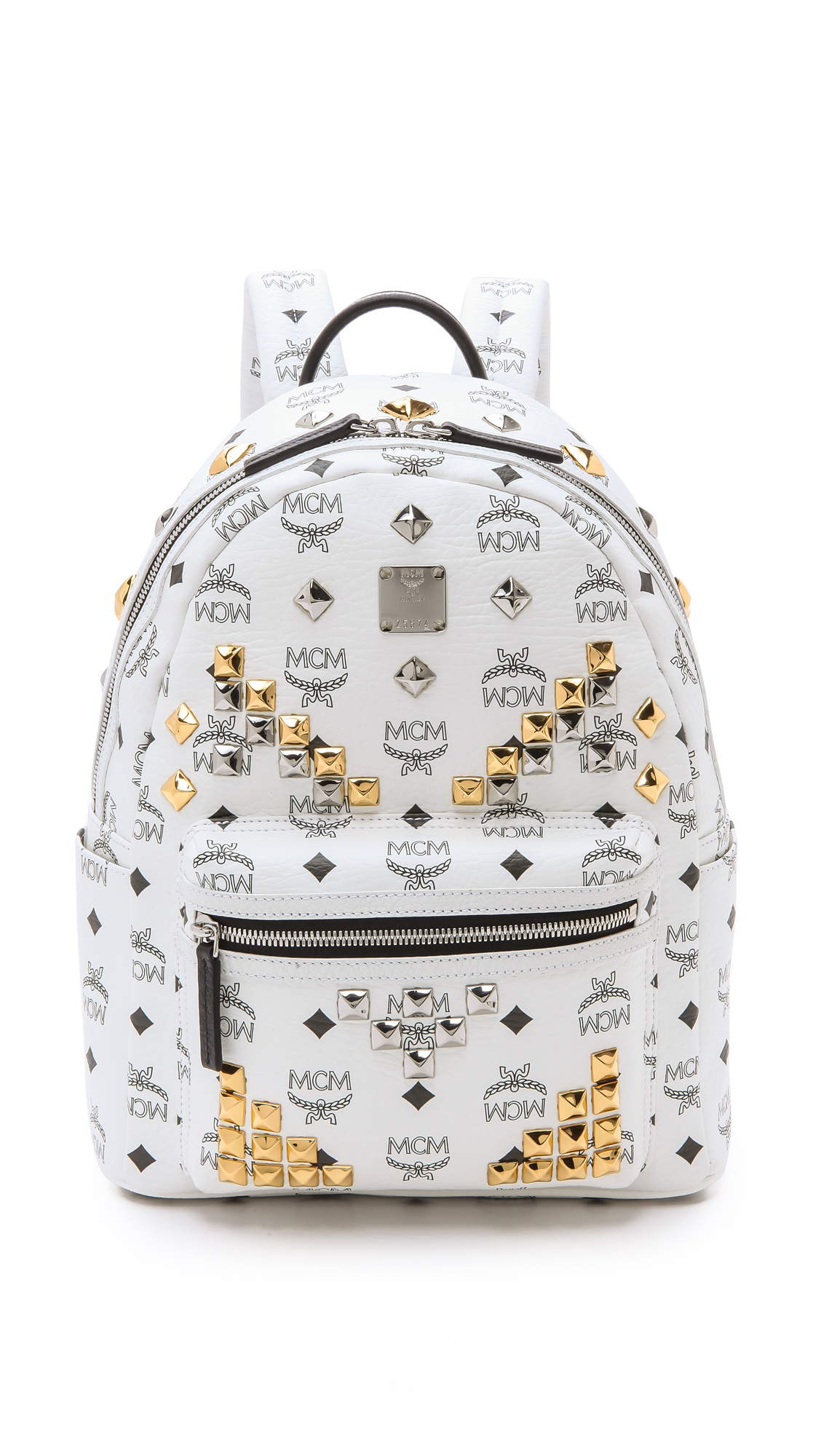 7a2f69a6e88a MCM Small Stark Studded Backpack