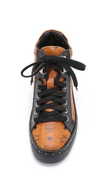 MCM Mid Top Sneakers