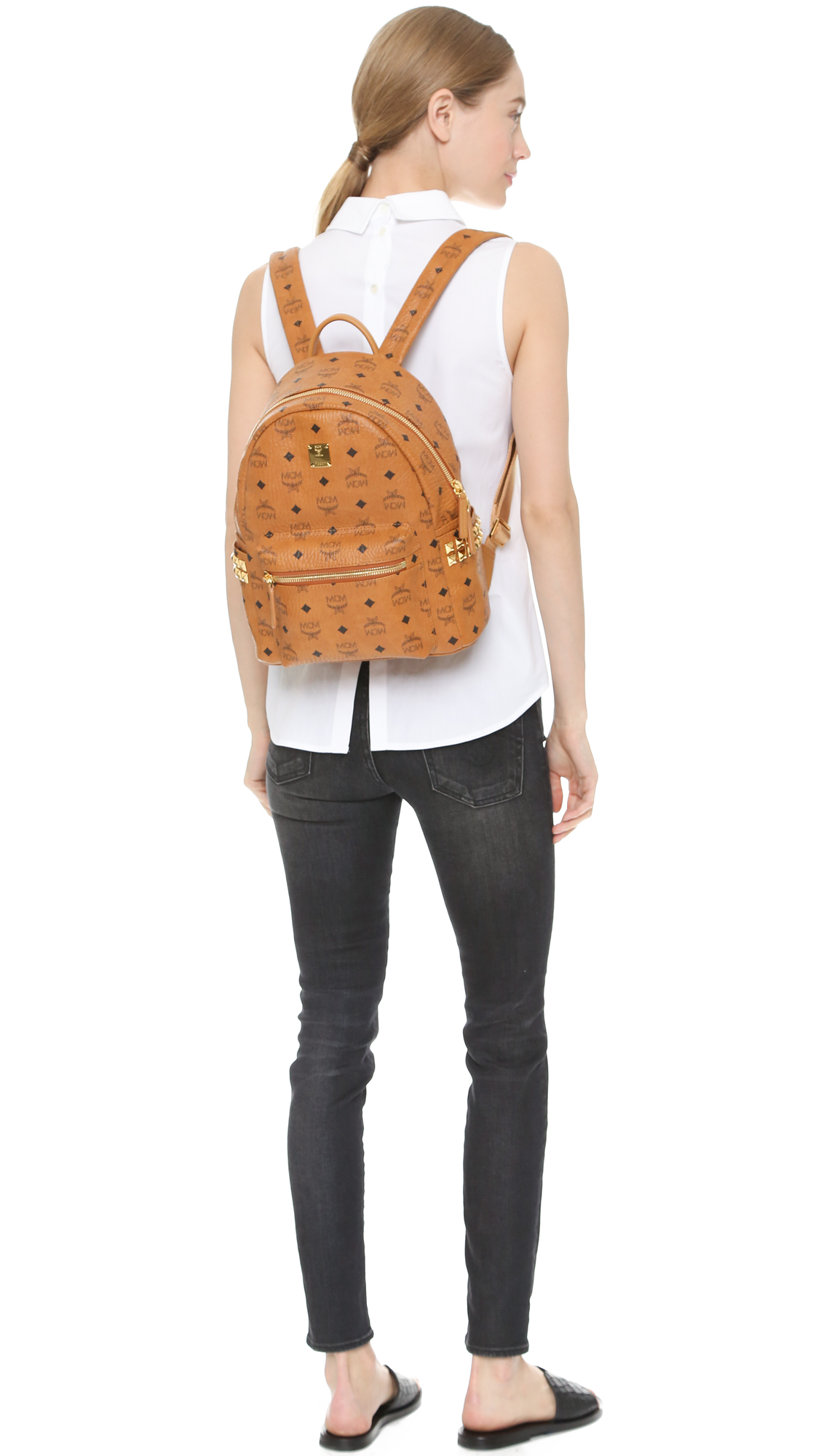 286c03c80e0 Small White Mcm Backpack - CEAGESP