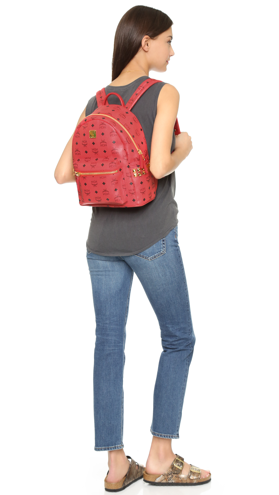 ed715e38f99e MCM Side Stud Small Stark Backpack