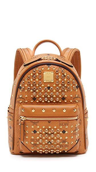 MCM Crystal Stud Baby Backpack