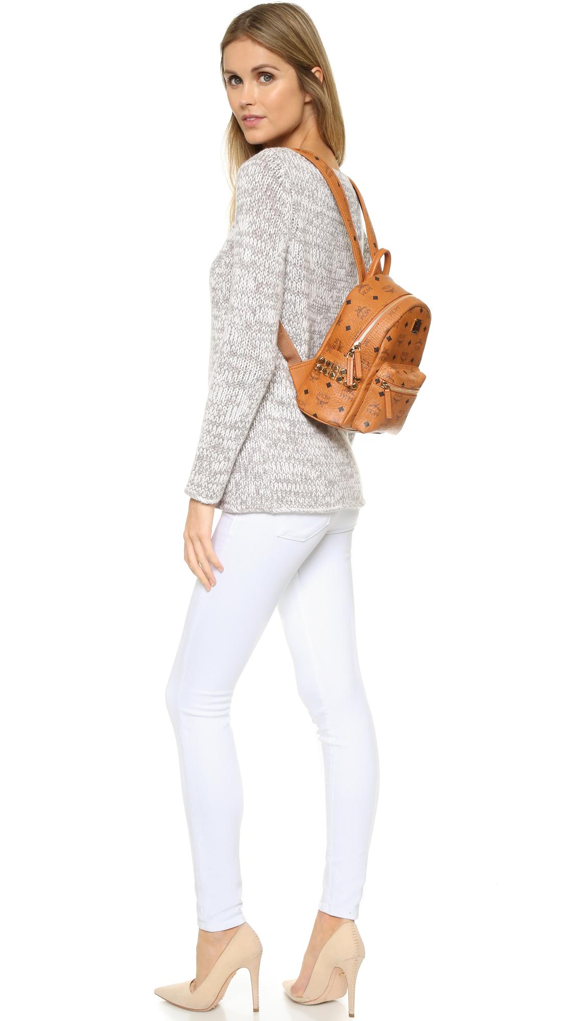 028a1ed8579 MCM Side Stud Mini Stark Backpack