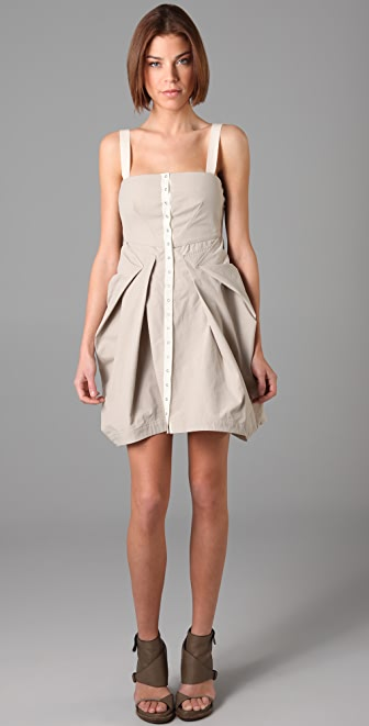McQ - Alexander McQueen Sleeveless Dress with Fold Details