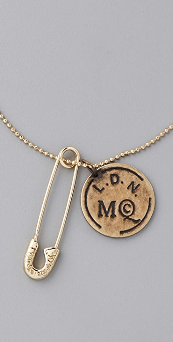 McQ - Alexander McQueen Doc Tag Necklace