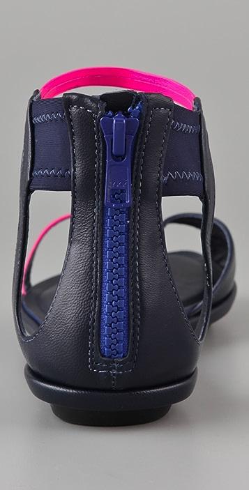 McQ - Alexander McQueen Zip Neon Thong Sandals