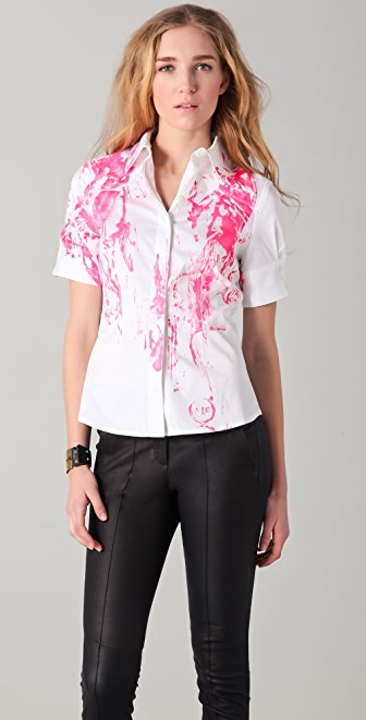 McQ - Alexander McQueen Printed Button Down Shirt