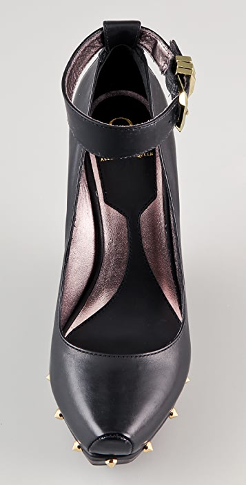 McQ - Alexander McQueen Studded Platform Wedges