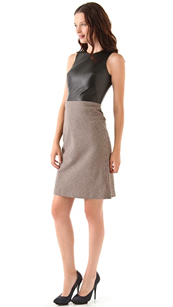 McQ - Alexander McQueen Leather Torso Dress