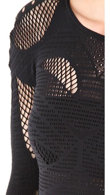 McQ - Alexander McQueen Mesh Long Sleeve Top