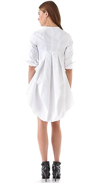 McQ - Alexander McQueen Drape Back Ruffle Dress