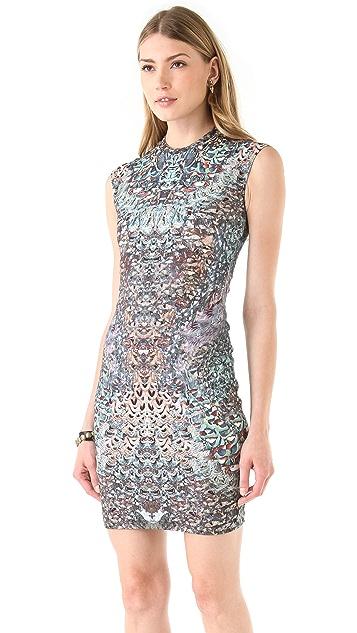 McQ - Alexander McQueen Cap Sleeve Printed Dress