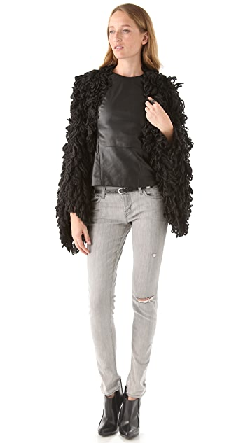 McQ - Alexander McQueen Loop Stitch Sweater Coat