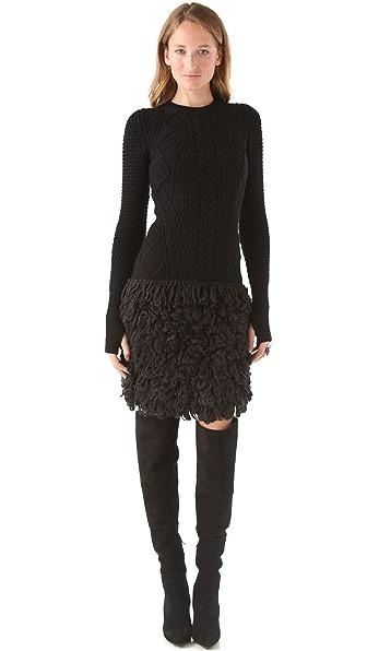 McQ - Alexander McQueen Loop Stitch Cable Dress