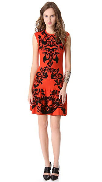 McQ - Alexander McQueen Jacquard Flirty Dress