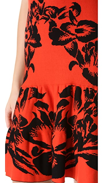 McQ - Alexander McQueen Jacquard Flirty Dress