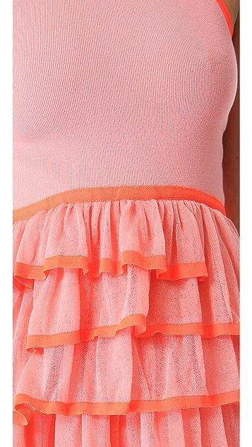 McQ - Alexander McQueen Frill Knit Sleeveless Dress