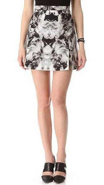 McQ - Alexander McQueen Tailored Iris Print Miniskirt