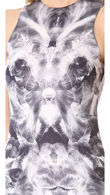 McQ - Alexander McQueen Sleeveless Iris Print Dress