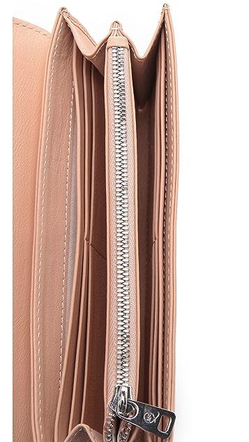 McQ - Alexander McQueen Perforated Collar Stud Flap Wallet