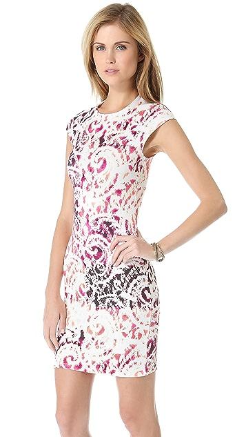 McQ - Alexander McQueen Interlock Cap Sleeve Dress