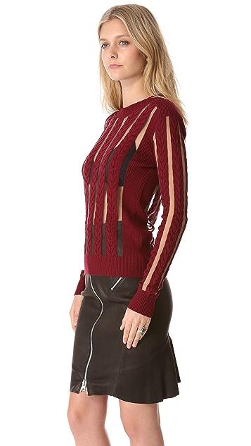 McQ - Alexander McQueen Sheer Panel Sweater