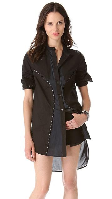 McQ - Alexander McQueen Hook & Eye Shirtdress Tunic