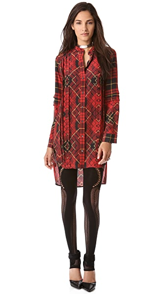 McQ - Alexander McQueen Pleated Shirtdress