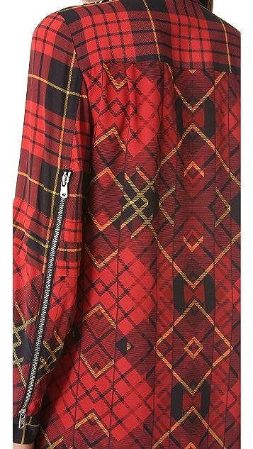 McQ - Alexander McQueen Pleated Shirtdress