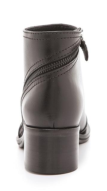 McQ - Alexander McQueen Short Biker Zip Booties