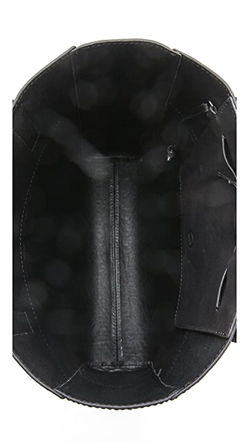 McQ - Alexander McQueen Embossed Leather Tote
