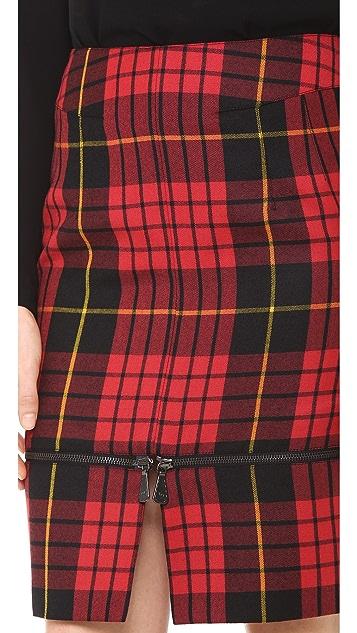 McQ - Alexander McQueen Plaid Zip Skirt