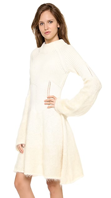 McQ - Alexander McQueen Degrade Mohair Dress