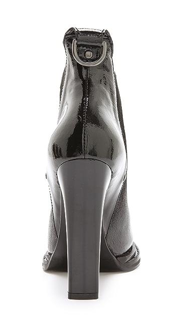 McQ - Alexander McQueen Patent & Suede Booties
