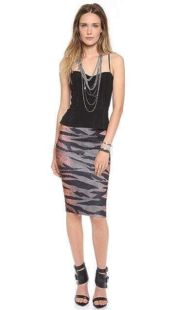 McQ - Alexander McQueen Contour Tiger Skirt