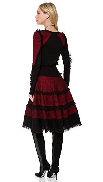 McQ - Alexander McQueen Tweed Flirty Dress