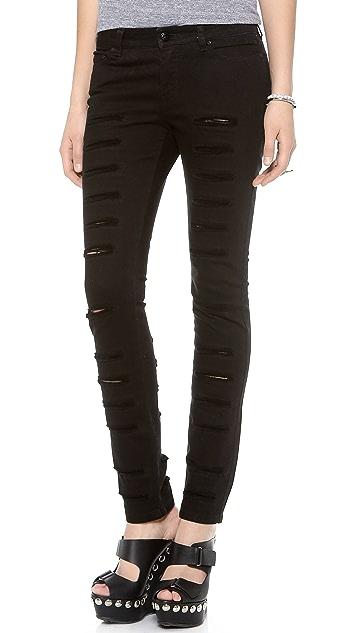 McQ - Alexander McQueen Slashed Jeans