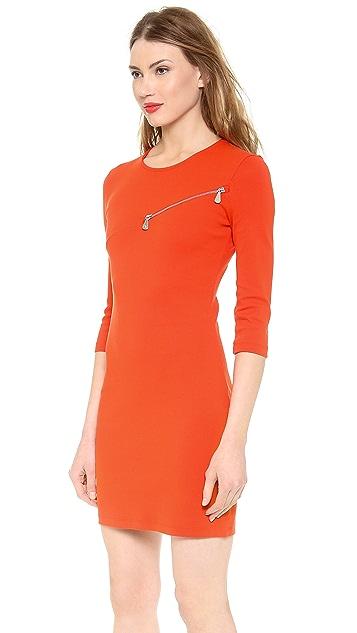 McQ - Alexander McQueen 3/4 Sleeve Zip Dress