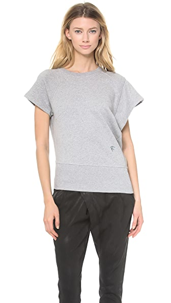 McQ - Alexander McQueen Draped Sweatshirt Top